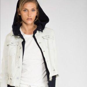 Free People Double Layer Denim Jacket Size Medium